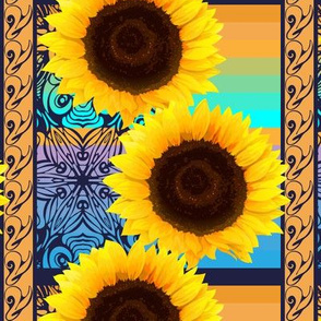 pattern_of_sunflowers_with_vertical_ornament