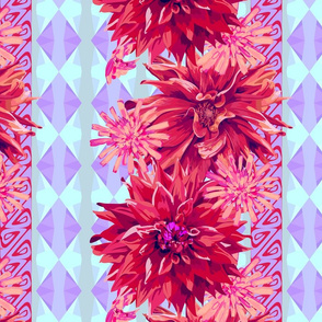 seamless_pattern_element_with_flowers_of_dahlia_and_cichorium_and_geometric_background