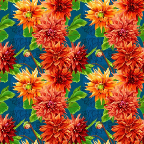 Seamless_pattern_of_georgina_flowers_with_leaves_2