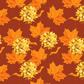 seamless_pattern_of_maple_tree_leave_and_a_seed_and_flower_of_dahlia