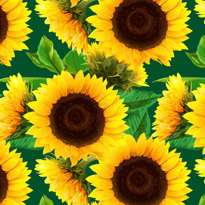 seamless_pattern_of_sunflowers_with_green_leaves