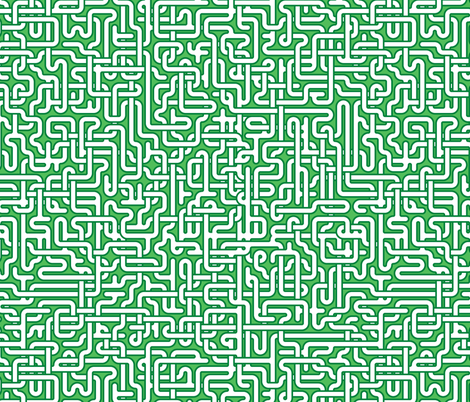 Spearmint maze fabric by weavingmajor on Spoonflower - custom fabric