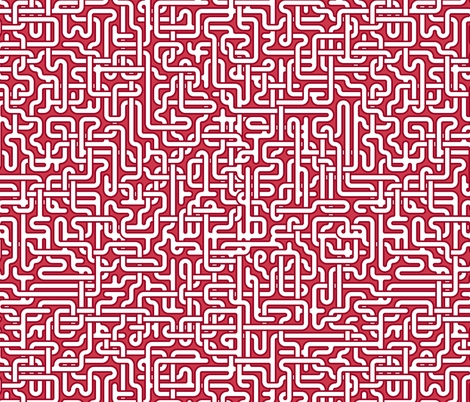 Peppermint maze fabric by weavingmajor on Spoonflower - custom fabric