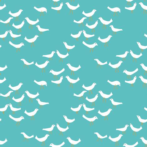 sandcastle birds fabric by vo_aka_virginiao on Spoonflower - custom fabric
