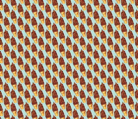 Chocolate Dip Ice Cream fabric by kellygilleran on Spoonflower - custom fabric