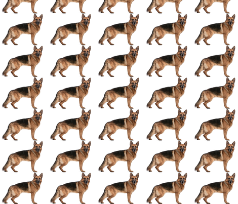 German Shepherd fabric by weebeastiecreations on Spoonflower - custom fabric