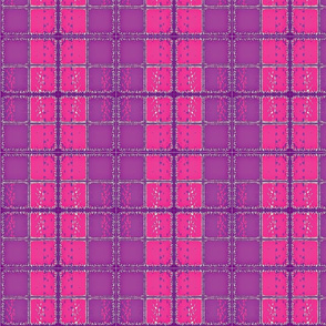 Fuzzy Plaid/ purple/pink