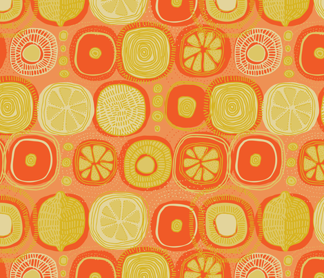 Dawn Sun Juice fabric by mariaspeyer on Spoonflower - custom fabric