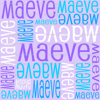 Personalised Name Design - Purples and Blues