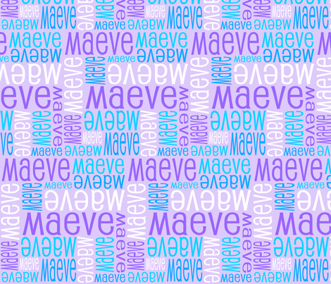 Personalised Name Design - Purples and Blues fabric by shelleymade on Spoonflower - custom fabric