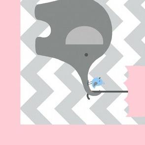 Zekie Quilt / Pink border