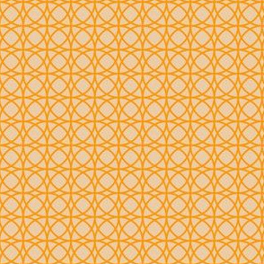 circles orange on beige
