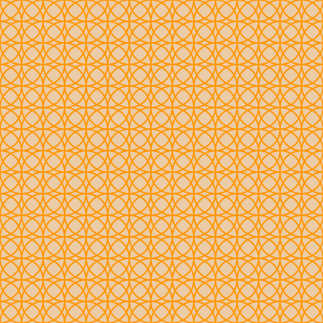 circles orange on beige  fabric by tailorfairy on Spoonflower - custom fabric