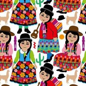 Bolivian girls