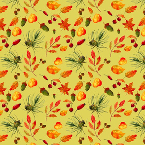 Autumn_seamless_pattern_with_leaves__berries__pine_cones_and_acorns