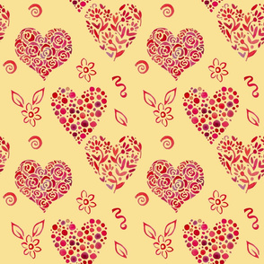 pattern_with_leaves_in_shape_of_heart_2