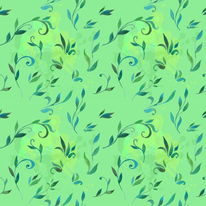 pattern_with_leaves_in_watercolor