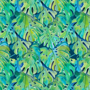 Seamless_pattern_2_with_leaves_of_monstera_plant