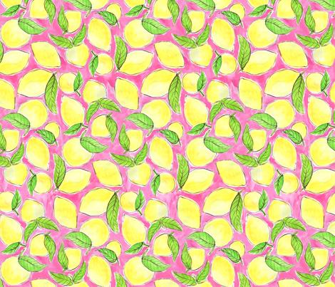 Pink Lemonade fabric by kikipetiford on Spoonflower - custom fabric