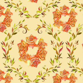 seamless_pattern_element_of_colorful_rose_flowers_and_graphic_style_leaves