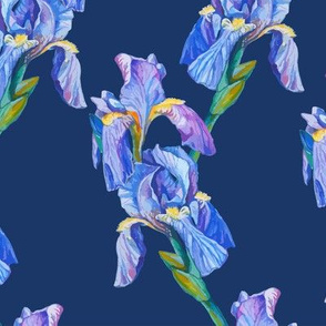 seamless_pattern_element_with_iris_flowers_and_blue_background