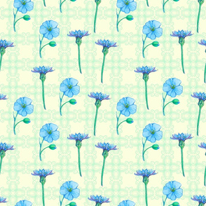 seamless_pattern_of__forget-me-not_and_cichorium