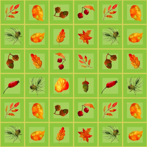 seamless_pattern_of_autumn_elements_in_square_green_background