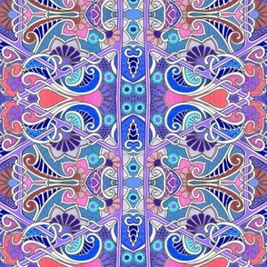 Pink and Blue Paisley Emporium