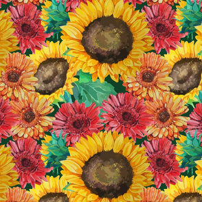 seamless_pattern_of_sunflowers_with_gerbera_flowers