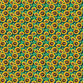 seamless_pattern_of_watercolor_sunflowers_with_green_leaves