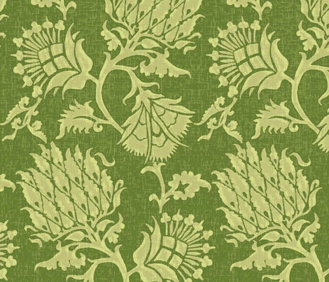 Contessa / Vert fabric by willowlanetextiles on Spoonflower - custom fabric