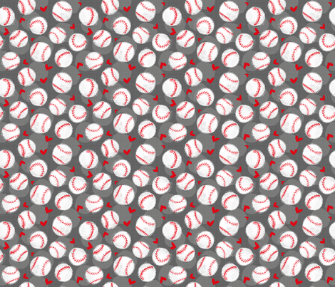 Baseball Lovers Unite! - Small scale fabric by pinky_wittingslow on Spoonflower - custom fabric