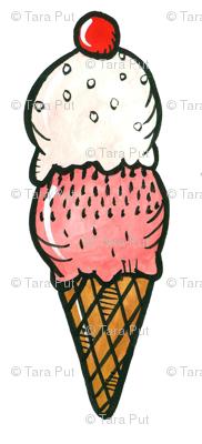 Strawberry Ice Cream Cones