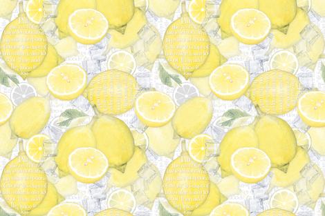 When_life_hands_you_lemons fabric by j9design on Spoonflower - custom fabric