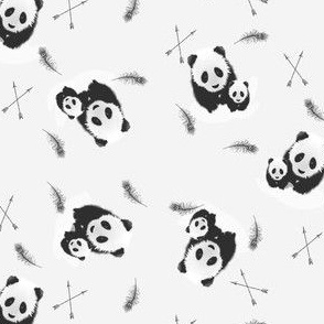 Panda Family with Arrows & Feathers