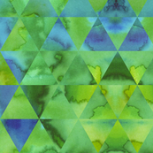 Green Triangle Watercolour