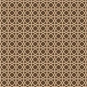 circles beige on brown