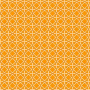 circles beige on orange