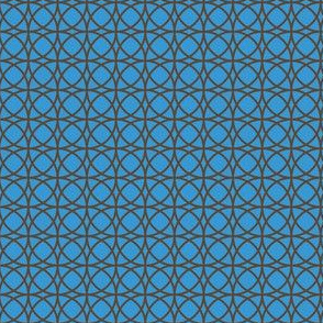 circles brown on turquoise