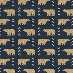 glitter bear navy chevron design in tiny bears