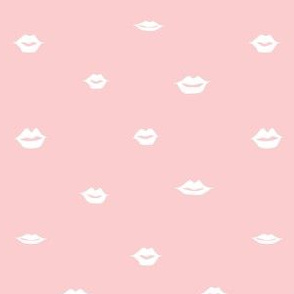 mini lips white on pink