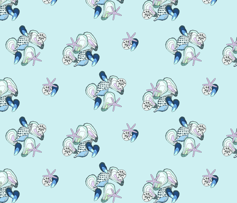 underwater treasures simple fabric by emmakisstina on Spoonflower - custom fabric