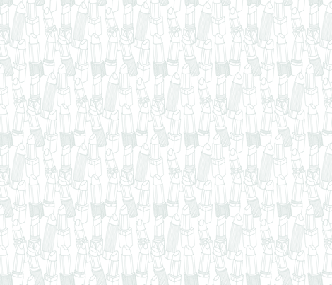 light gray lipstick outlines fabric by emmakisstina on Spoonflower - custom fabric