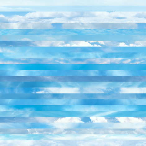 Sky stripes fabric by linkolisa on Spoonflower - custom fabric