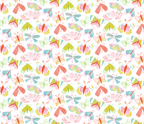 Butterfly Summer fabric by jillbyers on Spoonflower - custom fabric