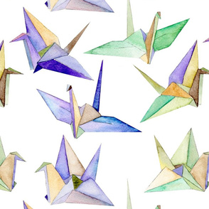Origami Cranes - large