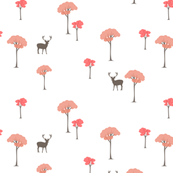 Trees and deer coral