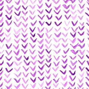 watercolor floating v's - purple
