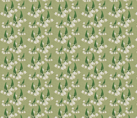 antique lily of the valley fabric by hannafate on Spoonflower - custom fabric
