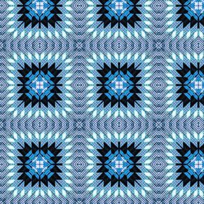 Blue Quilted Star